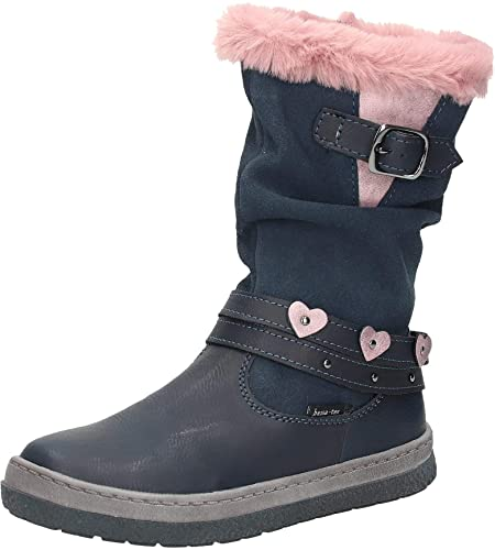Bama Kids 47232 Girls Dark Leather Boots, 32 EU: Amazon.co