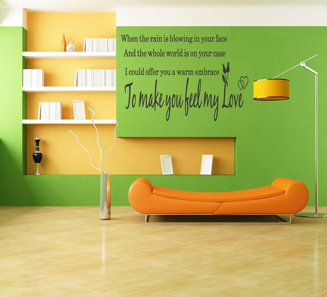 Make You Feel My Love Adele Song Lyrics Vinyl Wall Art Stickers ...