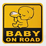 ZATOOTO Baby On Board Sticker Car - Reflective Safety Sign Waterproof Sticker for Car, Truck, Vehicle, Window or Bumper