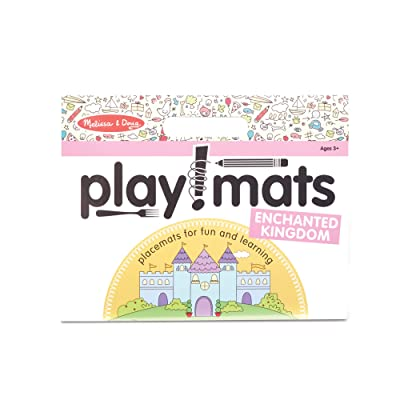 Melissa & Doug Playmats Enchanted Kingdom Take-Along Paper Coloring and Learning Activity Pads (24 Pages): Toys & Games