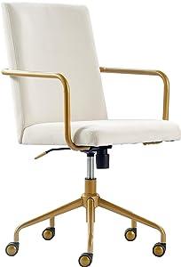 Elle Decor CHR10058D Giselle Home Office Chair Cream Cream
