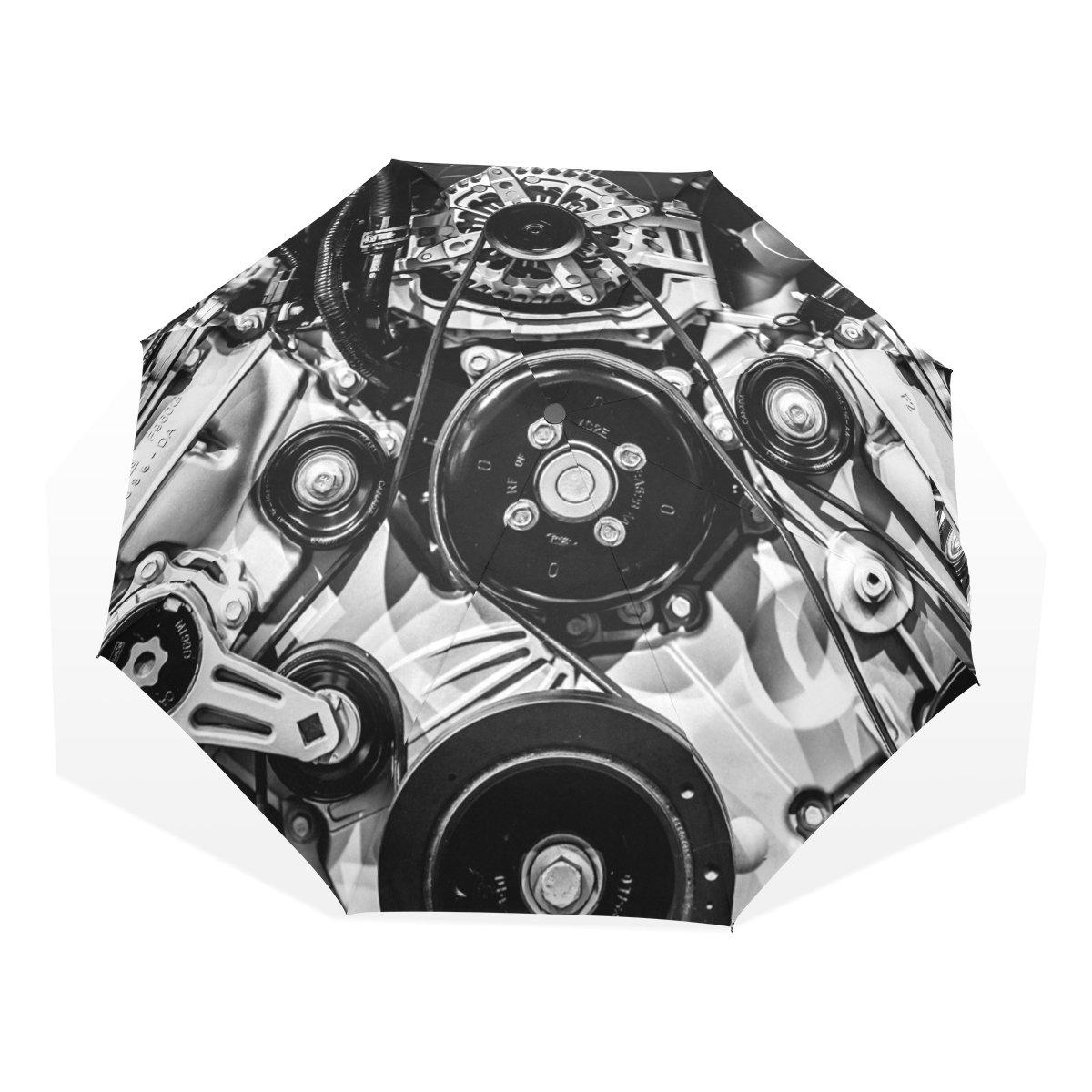 leisisi Golden菱形パターンPersonalizedファッション傘防風折りたたみトラベルコンパクト傘 B077T4G75KXHS-04