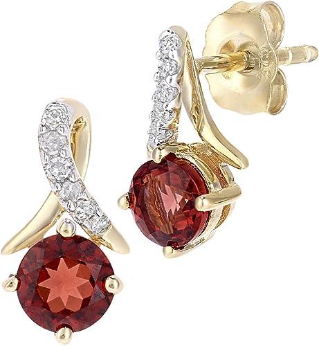 9CT Yellow Gold Finish 2 CT Round Cut Emerald /& Diamond Drop /& Dangle Earrings