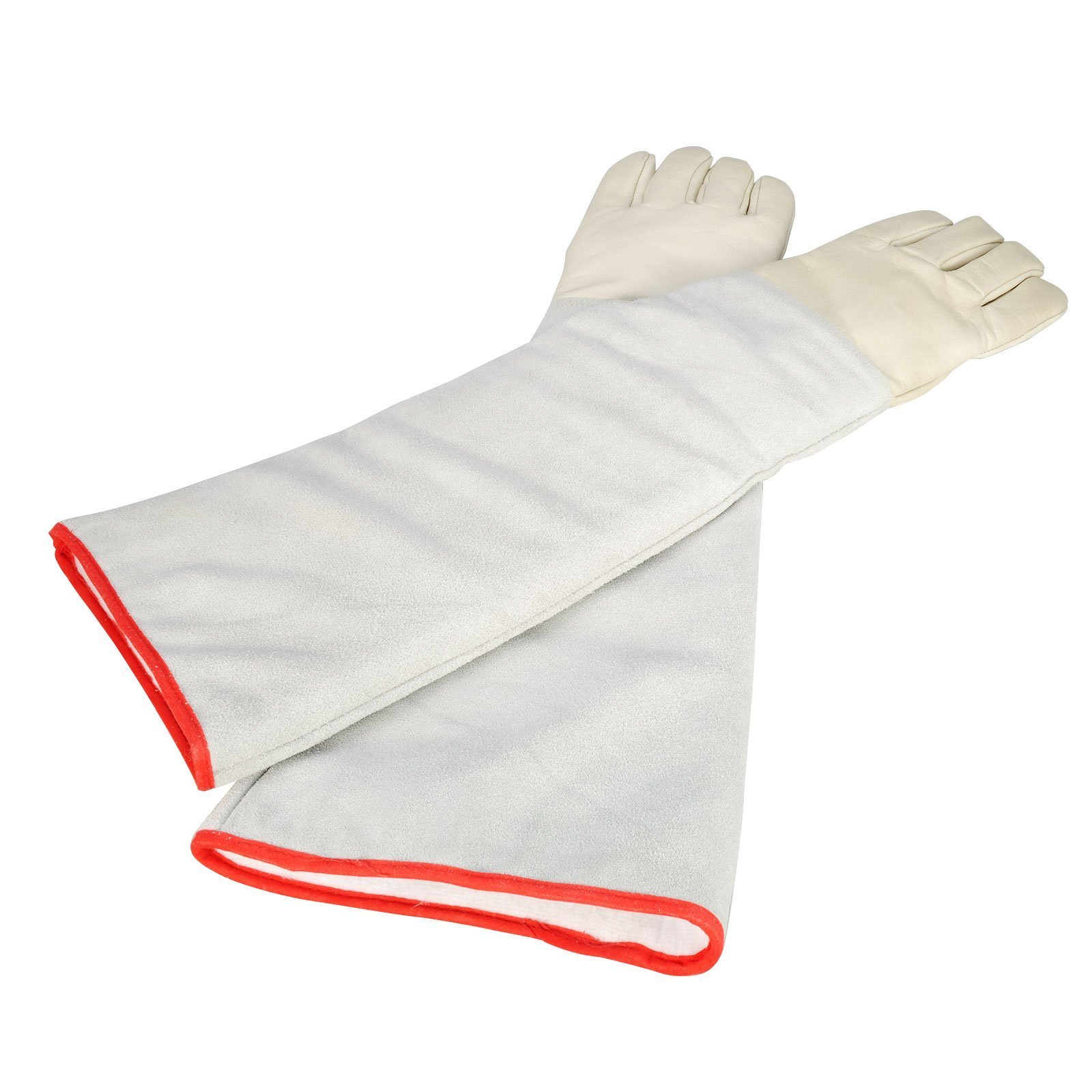 OFTEN Ultra Long Cryogenic Gloves Waterproof Protective Gloves Liquid Nitrogen Frozen Gloves Cold Storage,White,24.41'' by OFTEN (Image #2)