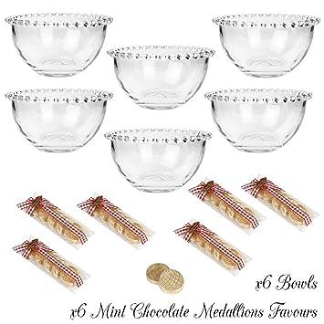 Set de seis Bella Perle desayuno/cereales/postre cuencos – Set de regalo con