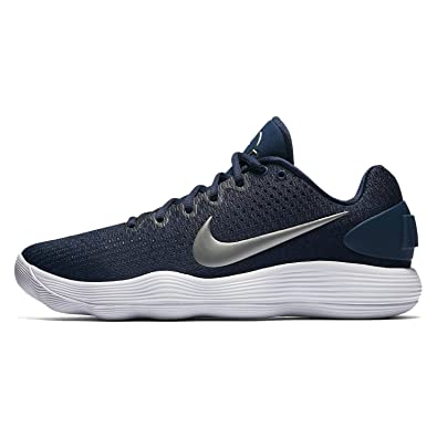 9c33f50bf8bb netherlands nike mens react hyperdunk 2017 low midnight navy metallic  silver white synthetic running shoes 545d0