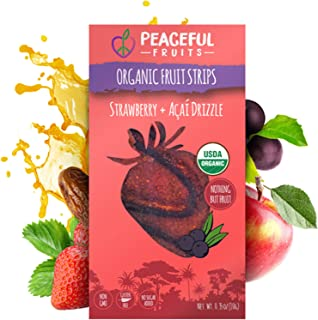 product image for Peaceful Fruits 100% Fruit Strips (Strawberry, 12 count)