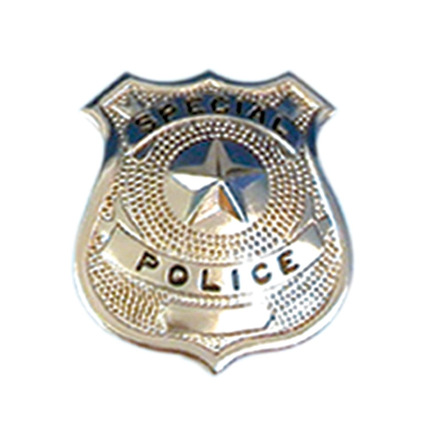 silver police badge police badge for fancy dress accessorie or party