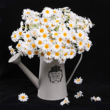 amazon com amyhomie artificial flowers silk daisy artificial