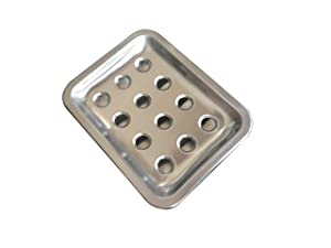 Blacksail Large Size Soap Dish Stainless Steel Soap Holder Sponge Holder with Draining Tray for Bathroom Shower and Kitchen Sink