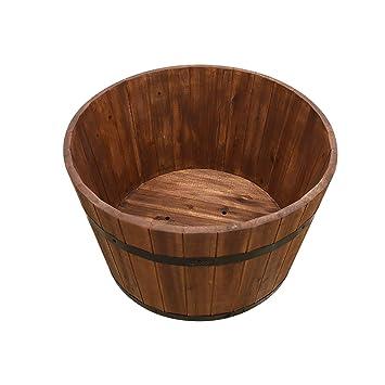 Simply Wood Premium Wine Barrel Planter Extra Large Plus Sale