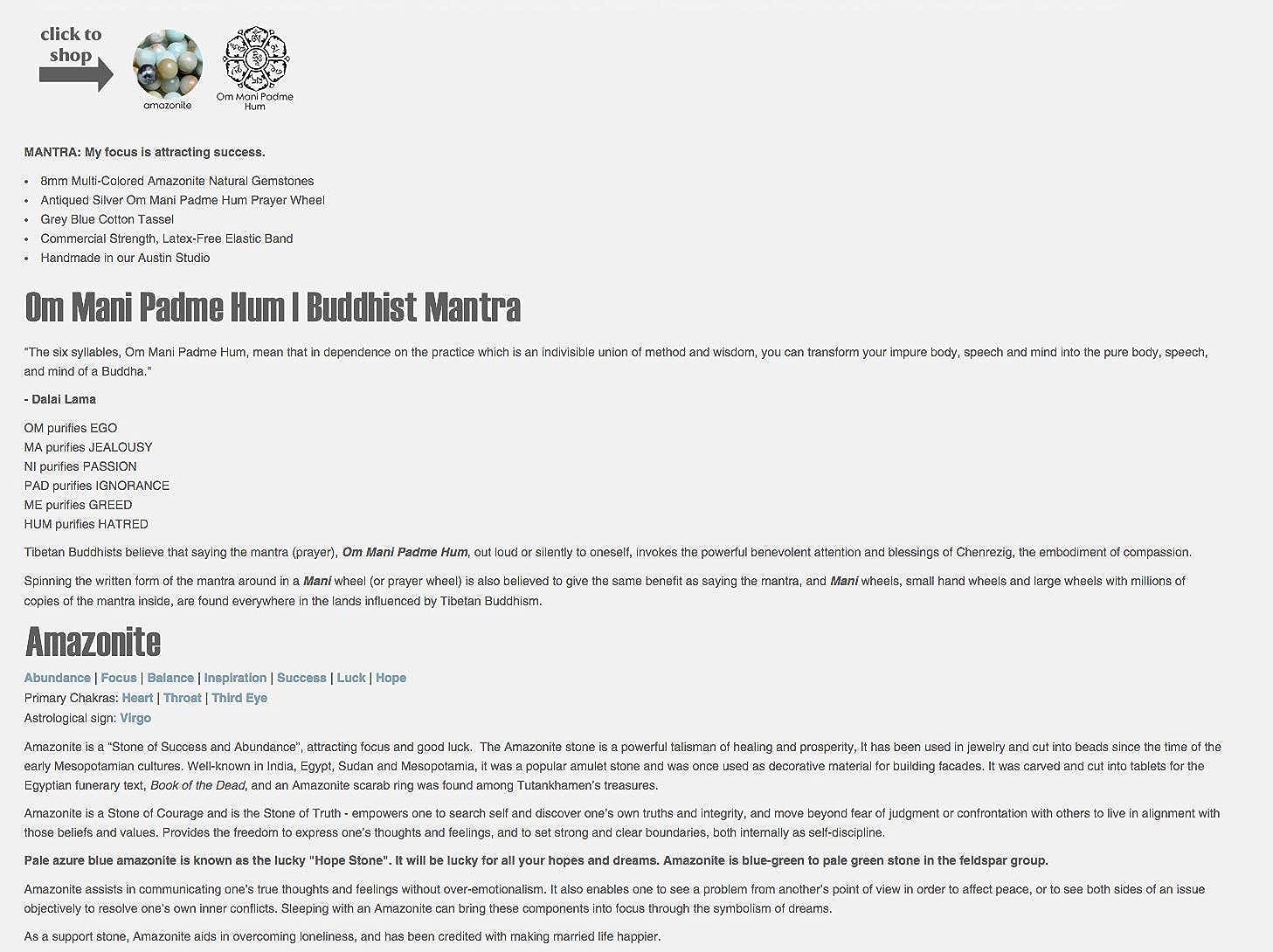Amazon com: Buddhist Spiritual Bracelets | Wrap Boho Stretch