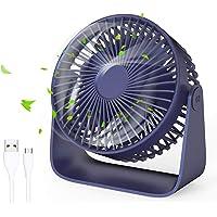 Jovego Mini Ventilador USB, Portátil Ventilador USB de Mesa Regulable en 3 Velocidades, Puede…