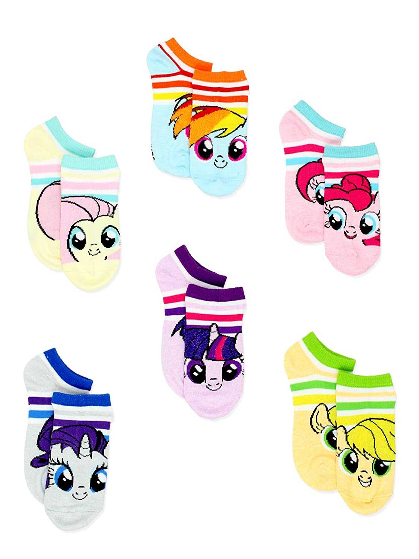 My Little Pony Girls Womens 6 pack Socks (Toddler/Little Kid/Big Kid/Teen/Adult)