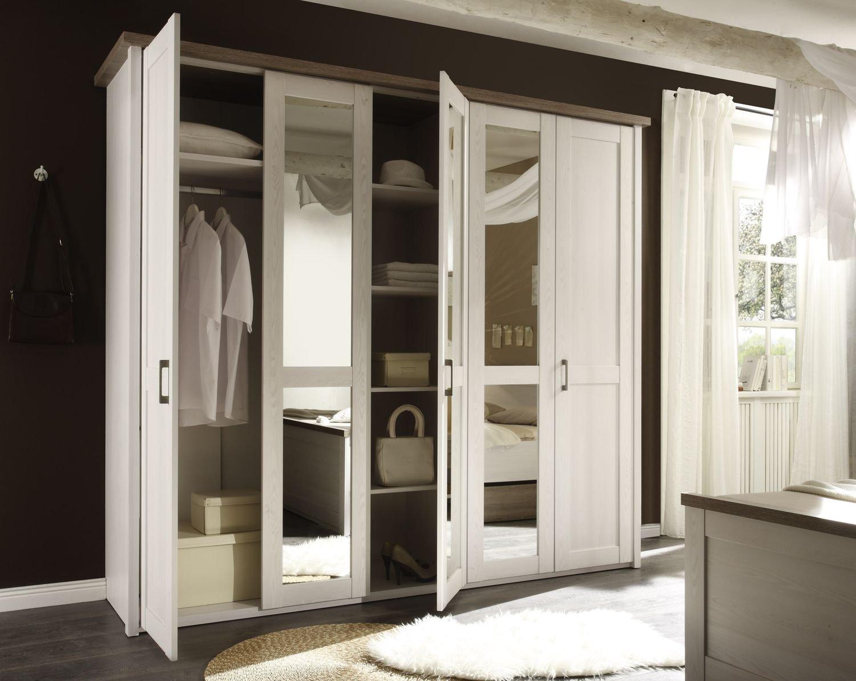komplett schlafzimmer doppelbett bett nakos kleiderschrank luca ... - Komplett Schlafzimmer Weiß
