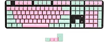 Keyboard keycaps Sunset Blue Gradient PBT Keycaps Double-Shot Profile Fit Gateron Kailh Outemu Switches for Mechanical Keyboards Color : 108 Key