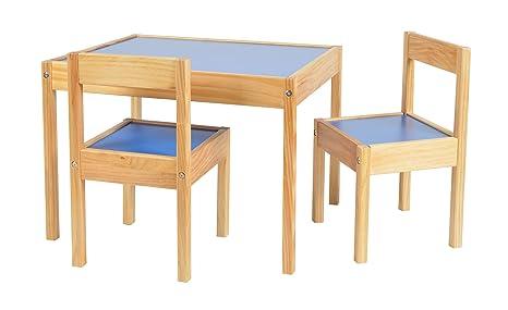 Tavolini In Legno Per Bambini : Ts ideen set tavolino con sedie per bambini color lilla e