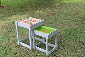 ActivKids Double Play Table   Nest Of Wooden Sand U0026 Water Table ...