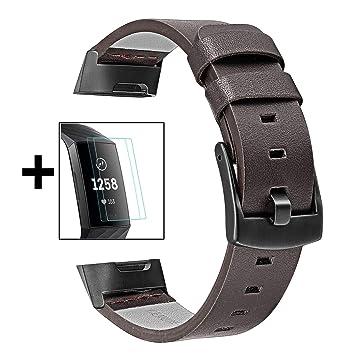TRUMiRR Charge 3 Watchband + 2 TPU Kit de Protector de Pantalla, Banda de Reloj