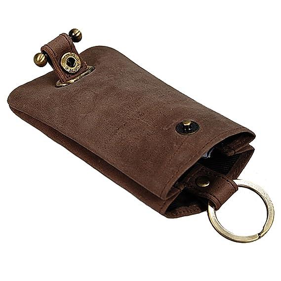 BOCCX Schlüsselglocke Schlüsseltasche Leder Schlüsseletui Auto Etui Tasche 40008