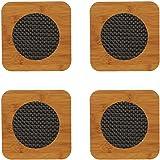Descanso de panela 4un madeira para proteger mesas de panelas quentes e decorar