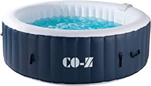 CO-Z Inflatable Hot Tub for 4-6, Above Ground Pool with 140 Bubble Jets and Air Pump 6.8x6.8ft, Portable Indoor Outdoor Hot Tub with Massaging Jets and Heater for Patio, Backyard, Garden