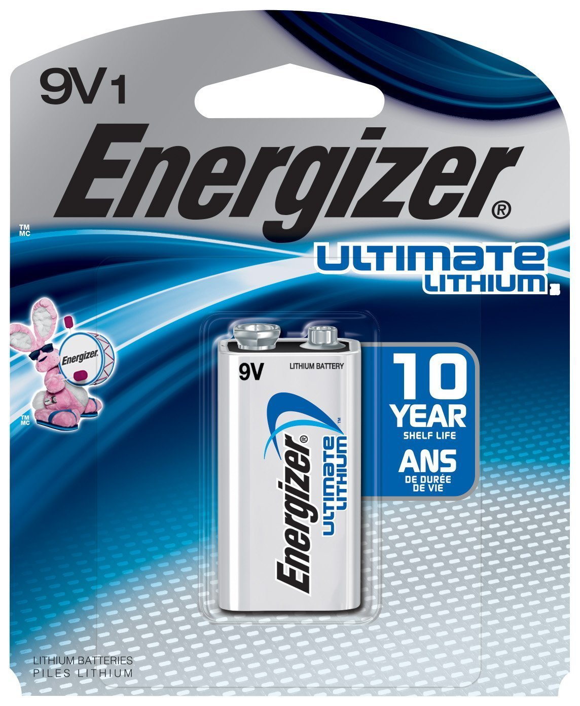 Eveready Battery L522BP Ultimate Lithium Battery, 9-Volt - Quantity 6