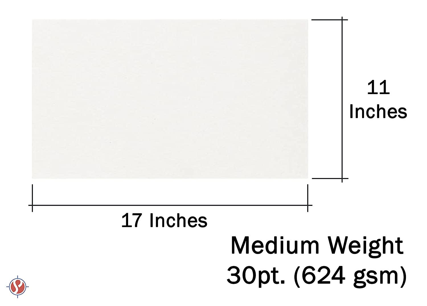 Cardboard Medium Weight Chipboard Sheets 25 Per Pack. 4 X 6 White Chipboard