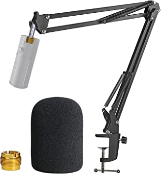 Razer Seiren X Boom Arm with Pop Filter Mic Stand with Foam Cover Windscreen for Razer Seiren X Gaming Microphone by YOUSHARES