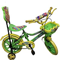 "Rising India 14"" Kids Bicycle for 3-5 Years with More Soft and Comfortable Seat with Back Support and Basket"