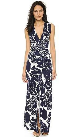 a240905510d Amazon.com  Diane von Furstenberg Women s New Yahzi Silk Maxi Dress ...