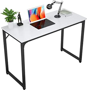 Foxemart Computer Desks Modern Sturdy Office Table 32 Inch PC Laptop Notebook Study Writing Desk for Home Office Workstations, White