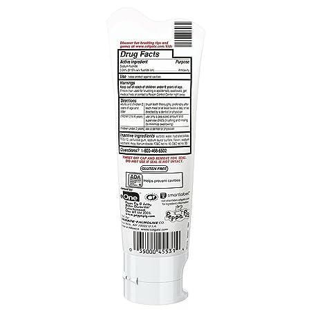 Amazon.com: Colgate Kids Fluoride Toothpaste, Peppa Pig, 4.6 Ounce: Beauty