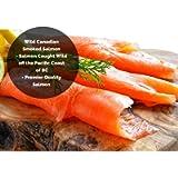 Smoked Salmon Sockeye Lox Cold Smoked Wild Caught Pacific Canadian Fish Sliced (1-lb)