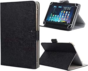 """PHEVOS 9.7-10.5 inch Tablet Universal Case Cover, Stand Folio Case, Comepatible with Samsung Galaxy Tab /Kindle Fire / Fire HD/Kindle Fire HDX /RCA and More 9.7""""-10.5"""" Tablets (Black)"""