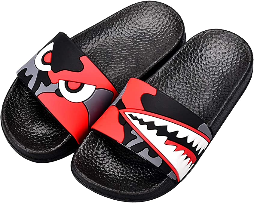 LAVAU Kids Beach//Pool Slide Sandals Non-Slip Summer Water Shoes Boys Girls Shower Slippers Toddler//Little Kids
