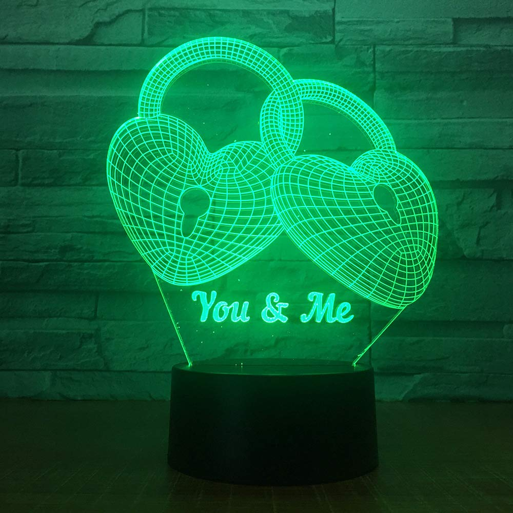 Visual 3D Lamp Baby Good Night Toys 2D Night Light Touch W//USB Cable Birthday Christmas Gift for Boys Kids Adult Acrylic Table Furniture Decorative Colorful 7 Color Change Household Accessories