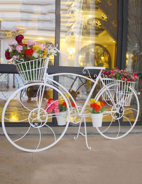 Multiusos para flores estante de hierro bicicleta de varias plantas Planta flores accesorio de Creative boda accesorios y juguetes ventana decoración decoración flor accesorio de para uso en interiores y al aire