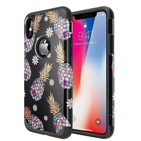 aicase iPhone X/10 móvil, iPhone X Funda con piña diseño 2 ...