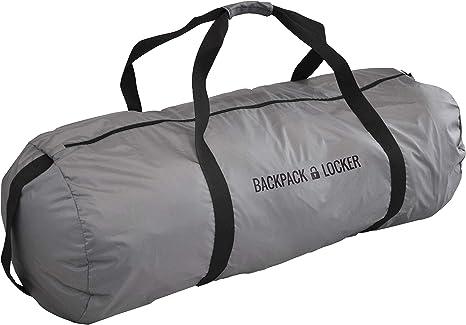 Backpack Locker - Sacca Zaino Per Aereo - Bosa Grande A Spalla - Lucchetto Gratis (Nero, 180 l - 430 g)