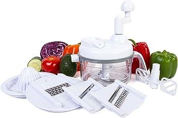 Ultra Chef Express Food Chopper – 7 in 1 Chopper, Mixer, Blender, Whipper, Slicer