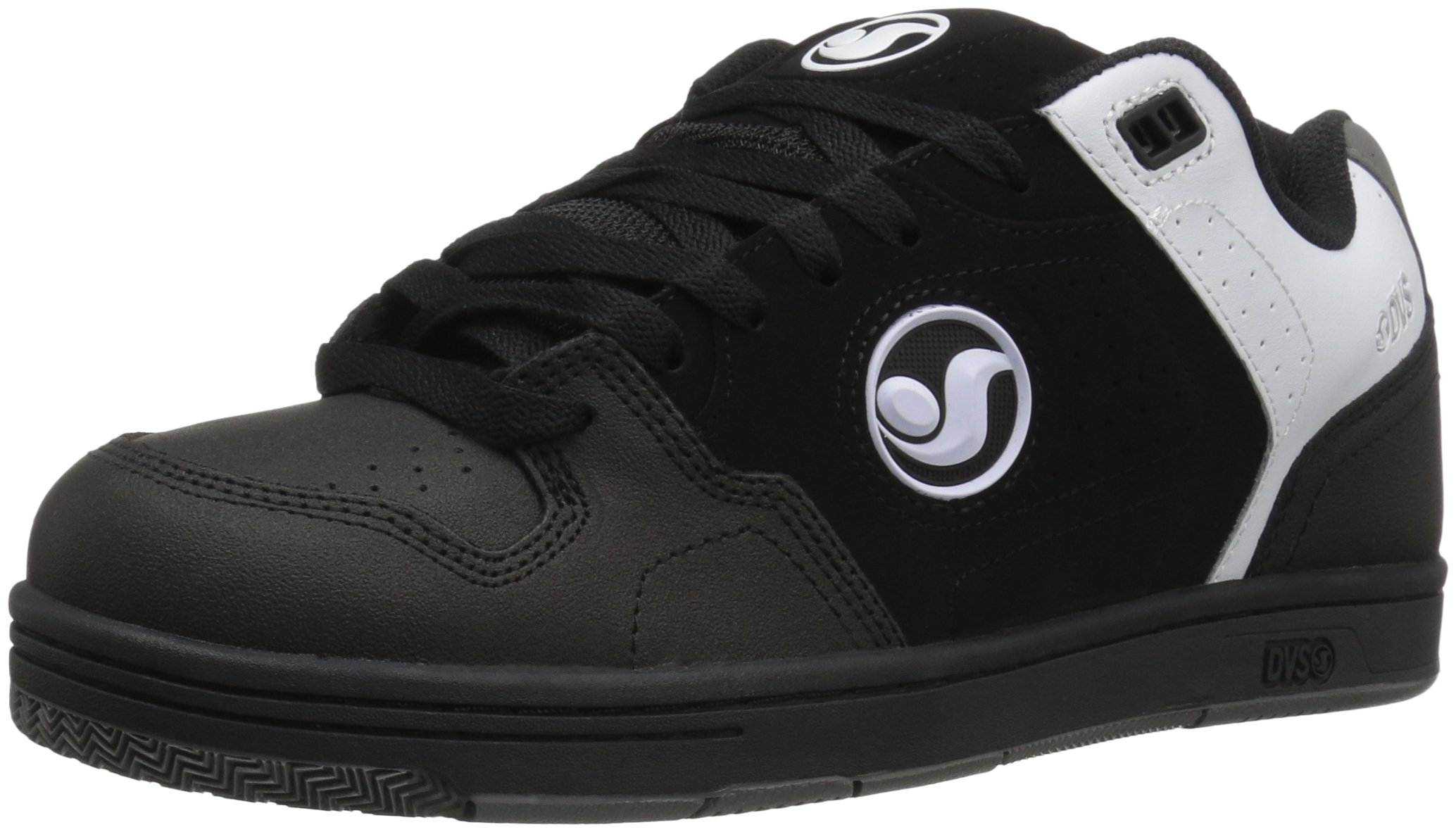 DVS Men's Discord Skateboarding Shoe, Black/Grey Nubuck Deegan, 12 M US