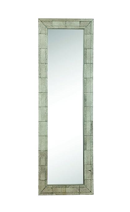 Amazon.com: Coaster Contemporary Antique Silver Floor Mirror: Home ...