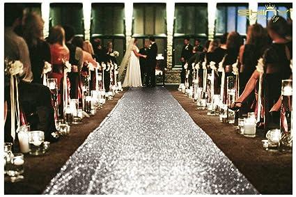 Aisle Runner For Wedding.Shinybeauty Wedding Aisle Runner Silver 20ftx4ft Sparkle Aisle Runner Glitter Aisle Runner Glam Wedding Sequin Decorations