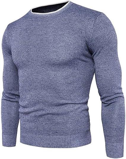 Jersey de punto para hombre Hombres Otoño Invierno Blusa ...