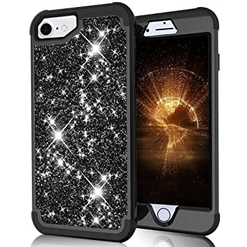 LCHULLE para iPhone 6 6S 7 8 Plus Carcasa Brillante Funda ...