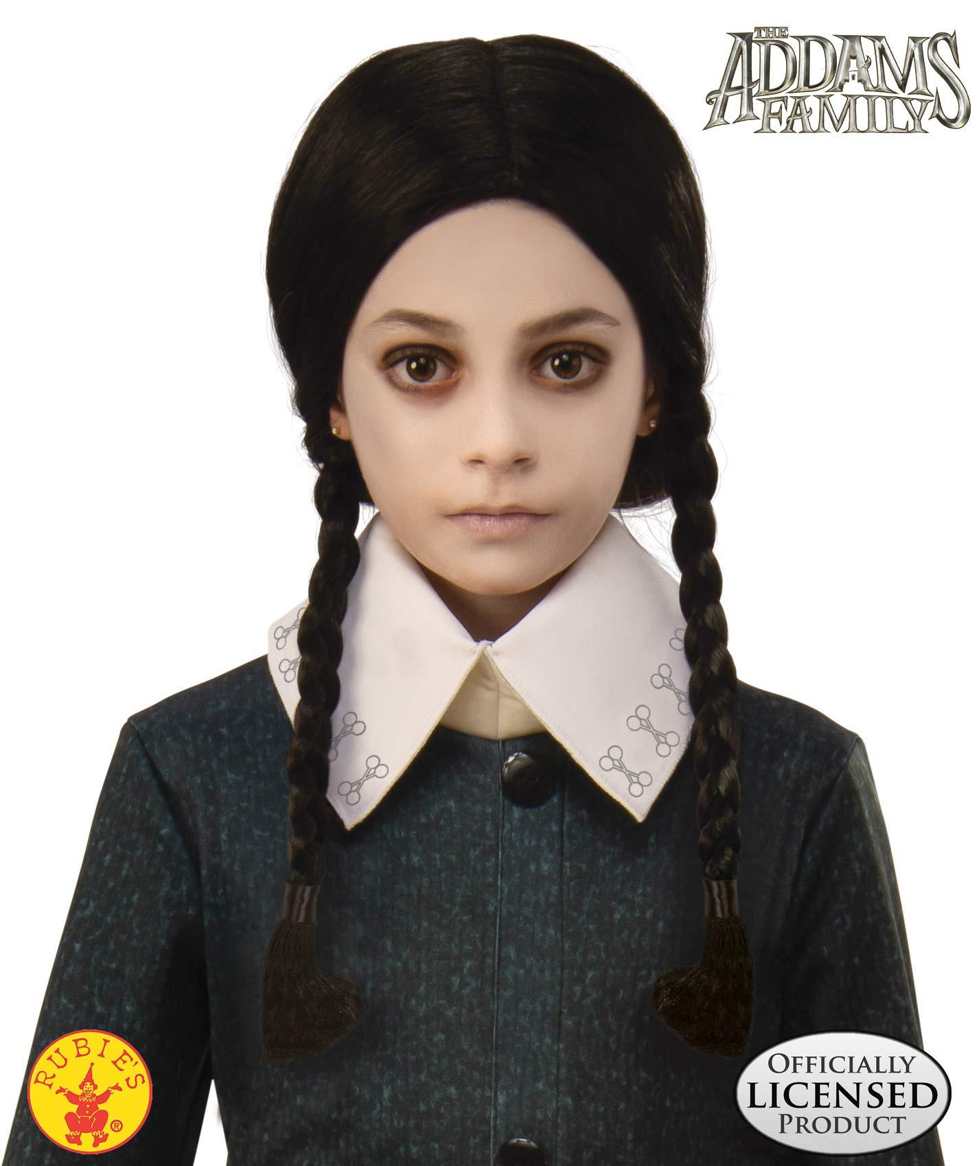 Rubie's Addams Family Animated Movie Child's Wednesday Wig, One Size by Rubie's