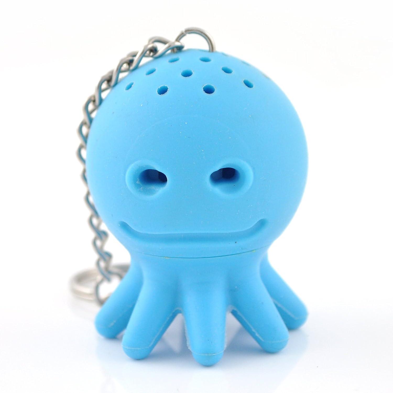silicona azul POULPY Infusor de silicona C/ÉCOA dise/ño de pulpo boule a the