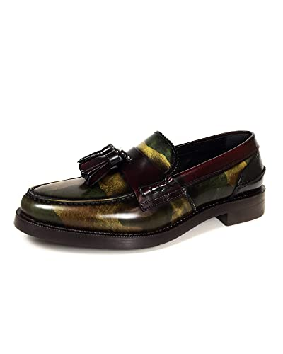 28d140f7683 Amazon.com  Zara Men Military Print Leather Loafers 2615 002  Shoes