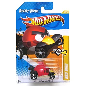 angry birds red bird hot wheels 2012 new models series 4750 red bird - Hot Wheels Cars 2012